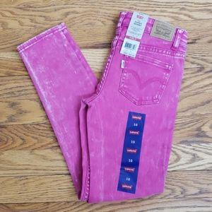Levi's 710 Super Skinny Fuchsia Jean's Size 10 Reg